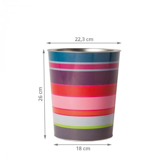 Corbeille à papier en métal coloré