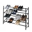 Rangement chaussures à 4 niveaux extensible et superposable