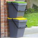 Poubelle de tri sélectif jaune 35 litres