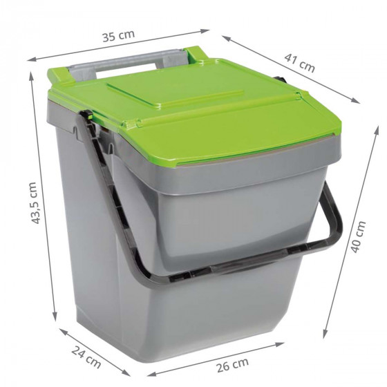 Poubelle de tri sélectif verte 30 litres