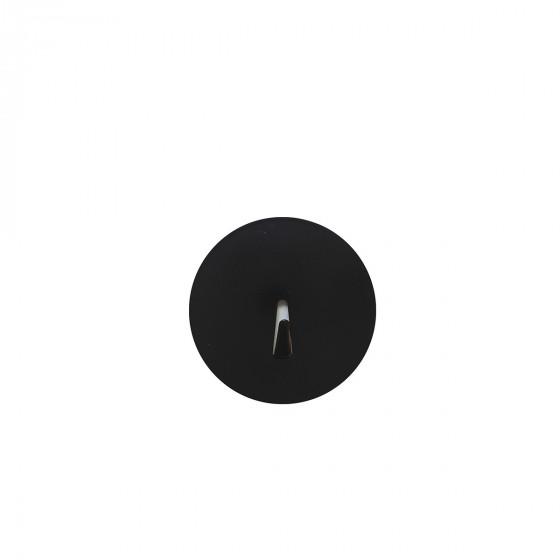 4 crochets noirs aimantés et ronds