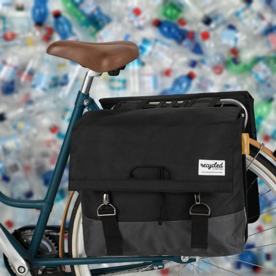 Sacoche à vélo double en matériau recyclé 55 litres