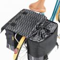 Grande sacoche à vélo double en matériau recyclé 55 litres