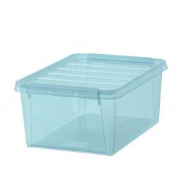 Boîte de rangement en plastique bleu 14 litres