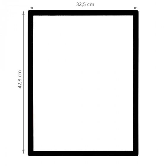 Panneau d'affichage A3 repositionnable cadre noir