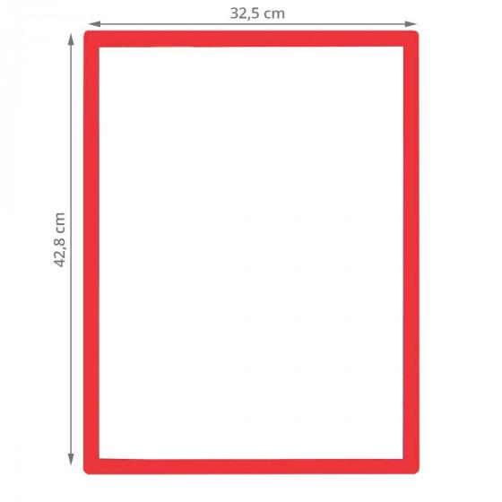 Panneau d'affichage repositionnable encadré rouge