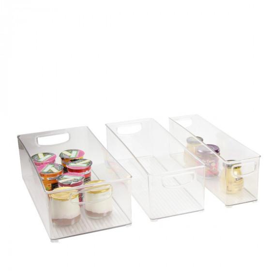Bac empilable et haut pour placard rangement cuisine - Bac plastique transparent ikea ...