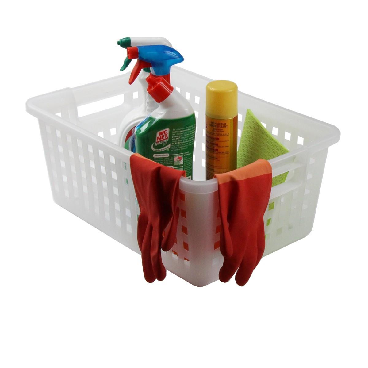 Panier en plastique rangement buanderie Panier rangement cuisine