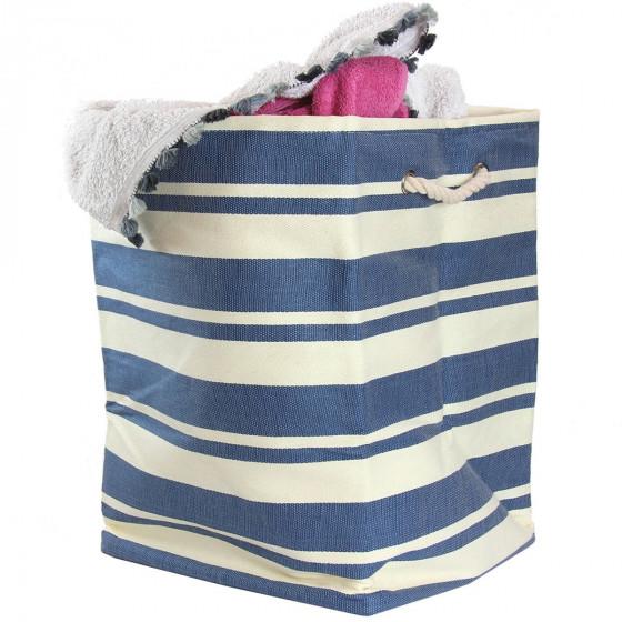 sac carre creme raye bleujpg - Chaise Style Scandinave Pas Cher1838