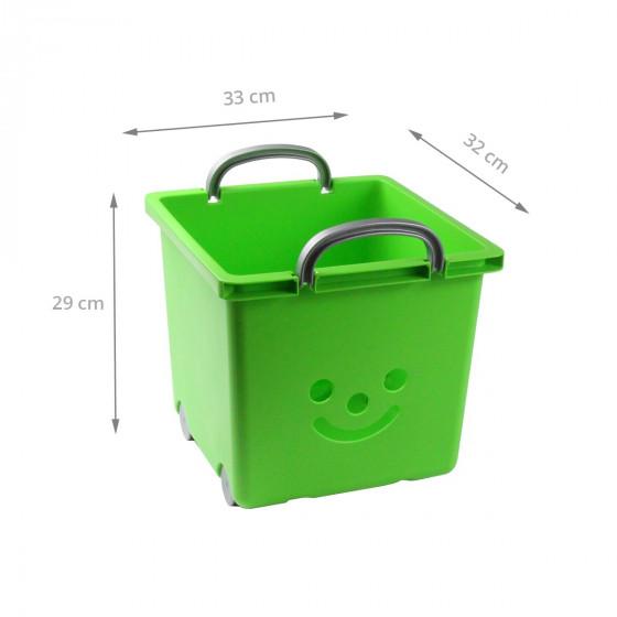 bac roulettes empilable plastique vert. Black Bedroom Furniture Sets. Home Design Ideas