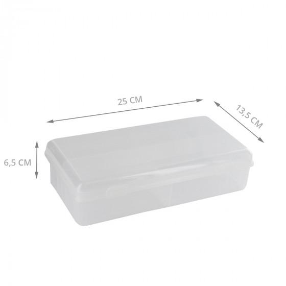 Boîte en plastique transparent à 7 compartiments (S)