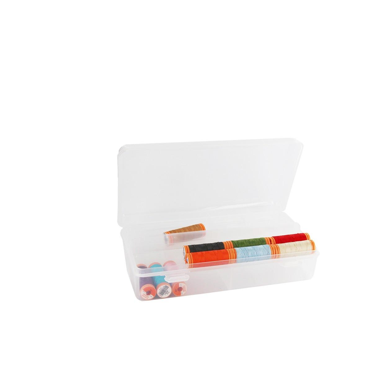 Boite compartiment e plastique rangement for Rangement couture plastique