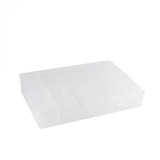 Boîte en plastique transparent à 18 compartiments (M)