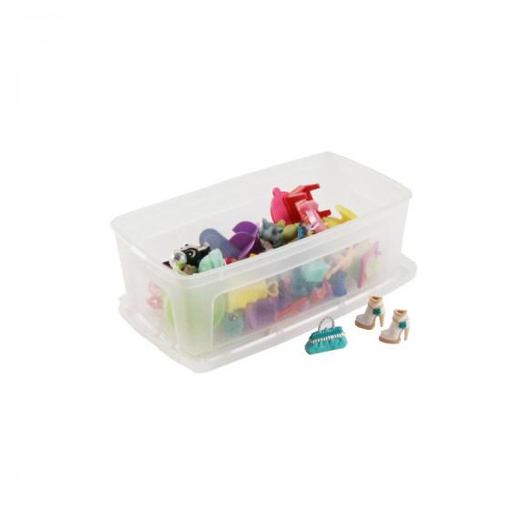 bo te en plastique transparent rangement jouets et jeux. Black Bedroom Furniture Sets. Home Design Ideas