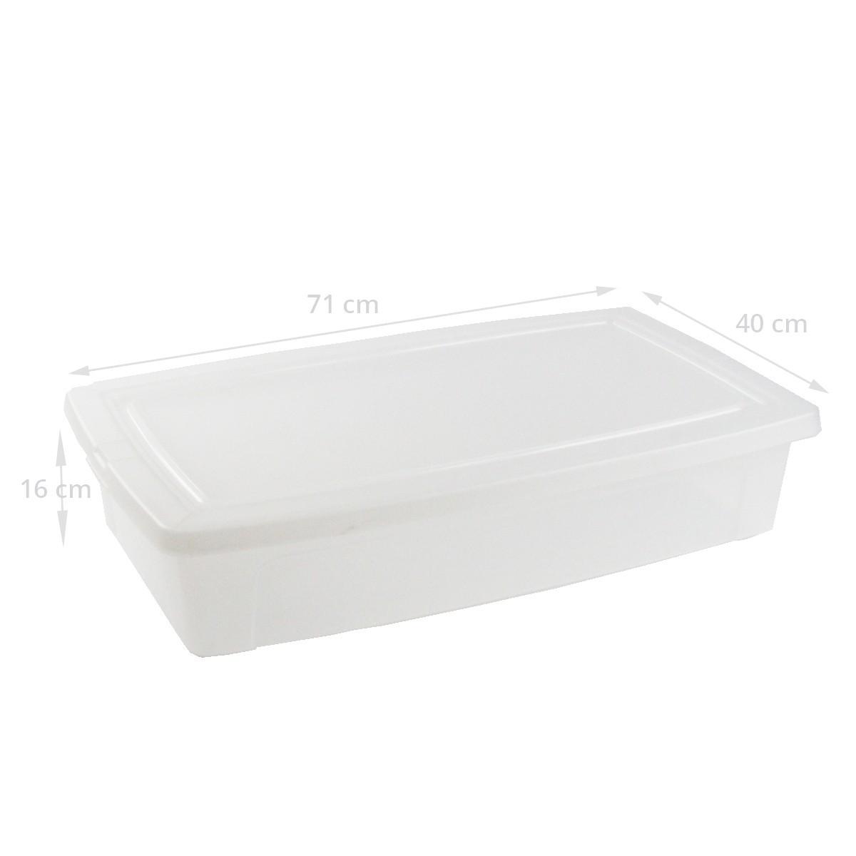 Bo te de rangement sous le lit en plastique - Boite rangement plastique sous lit ...