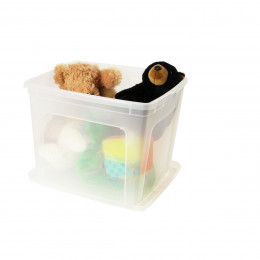 Rangement univers enfant bacs paniers on range tout for Boite plastique avec couvercle
