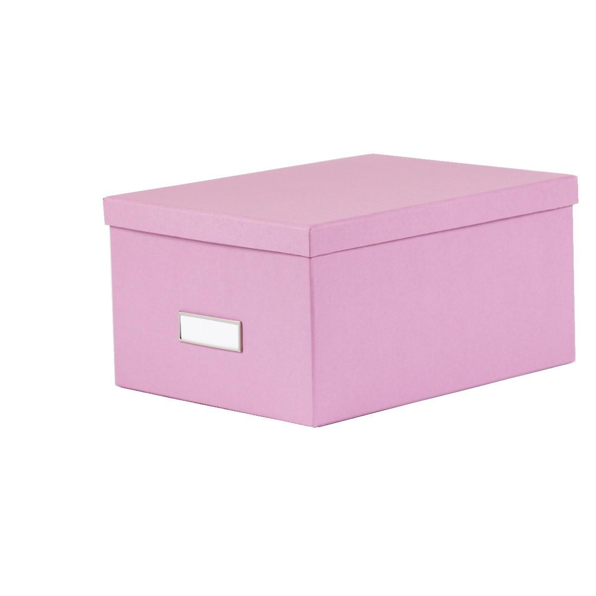 Bo te de rangement dvd en carton lilas - Boite de rangement carton ikea ...
