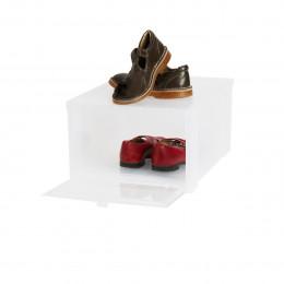 Bo te rangement chaussures noire empilable - Boite de rangement pour chaussures ...
