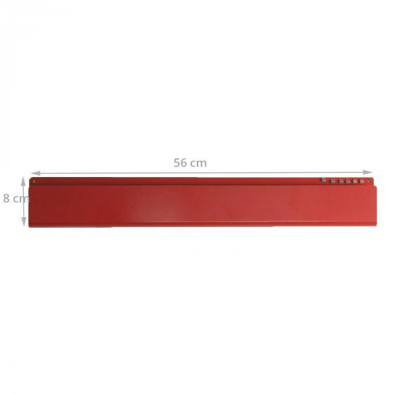 Vide poche mural métallique rouge avec  6 aimants