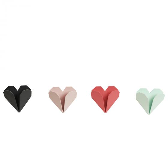 porte torchon c ur origami rose rangement. Black Bedroom Furniture Sets. Home Design Ideas