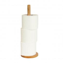 Stockeur de papier toilette en bois d'hévéa
