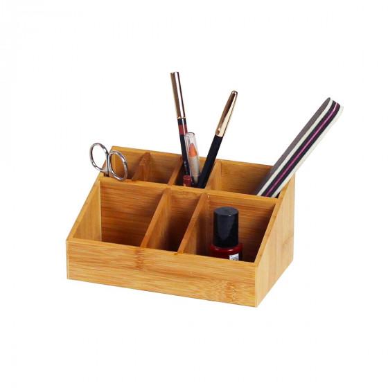 Organisateur maquillage bambou rangement - Organisateur de maquillage ...