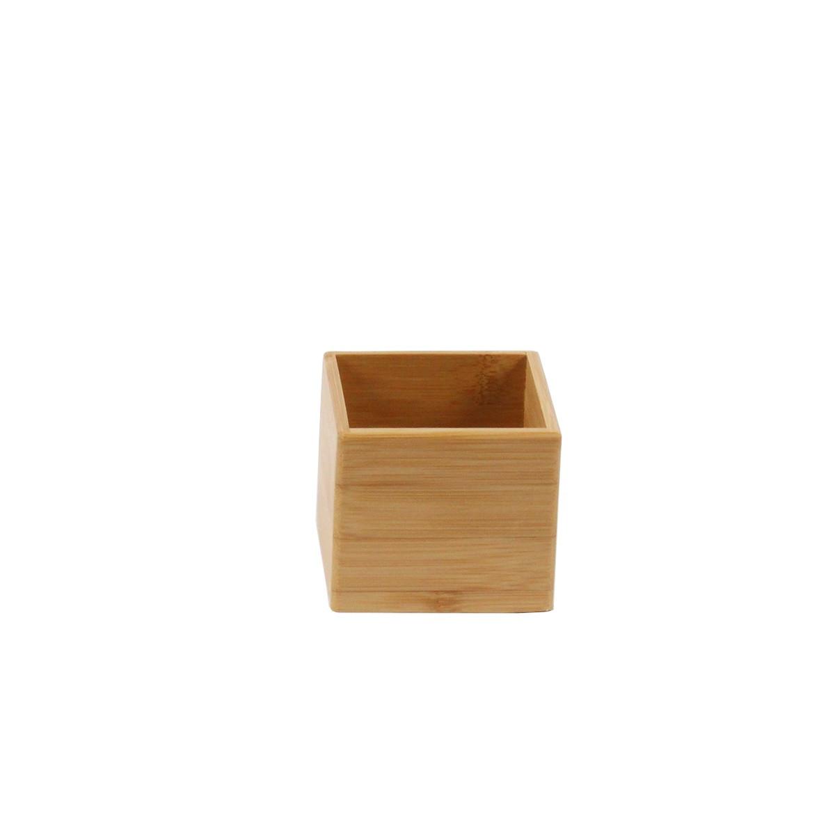 Petit bac carr bambou rangement tiroirs - Organisateur de tiroir bureau ...