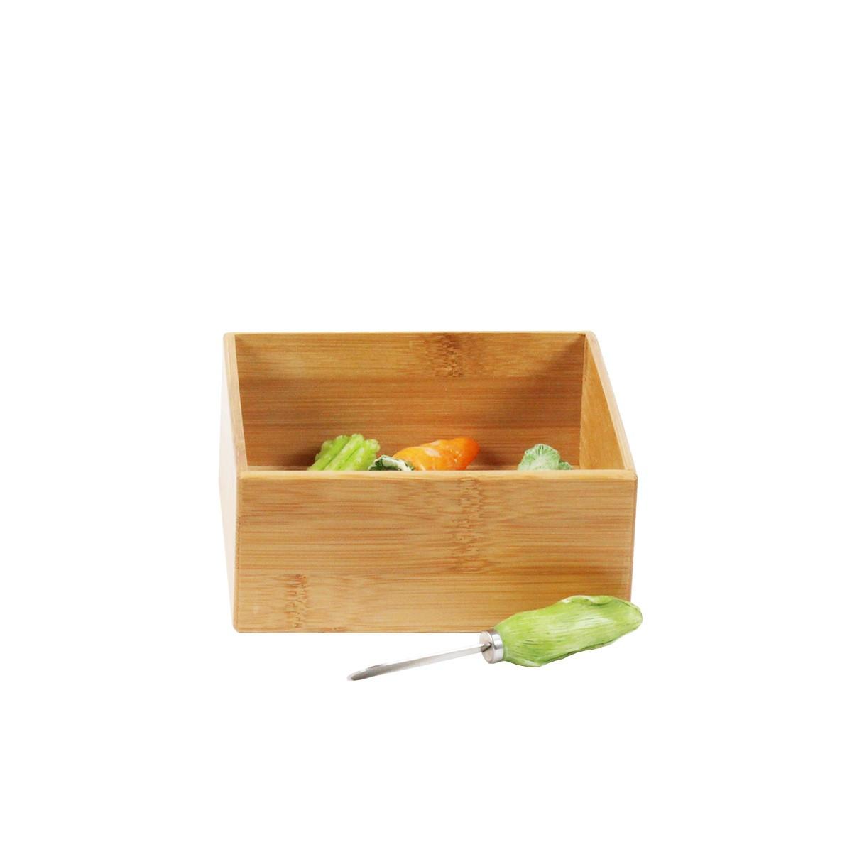 grand de tiroirs carr et en bambou with organiseur tiroir cuisine. Black Bedroom Furniture Sets. Home Design Ideas