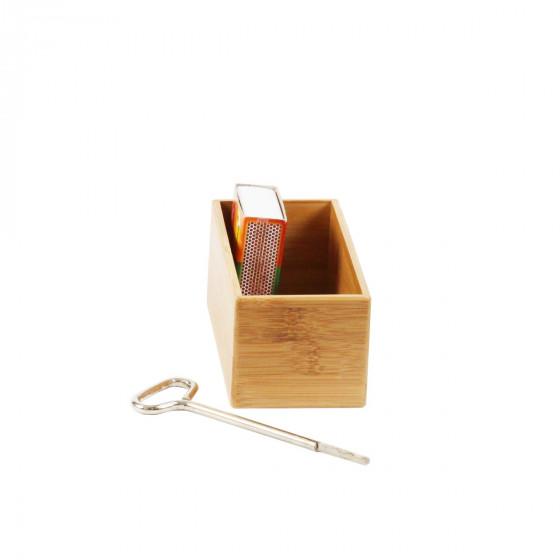 Bac rectangle en bambou rangement tiroirs - Bac rectangulaire pour bambou ...