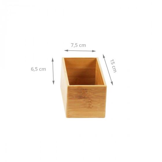 Bac rectangle en bambou rangement tiroirs - Organisateur de tiroir bureau ...