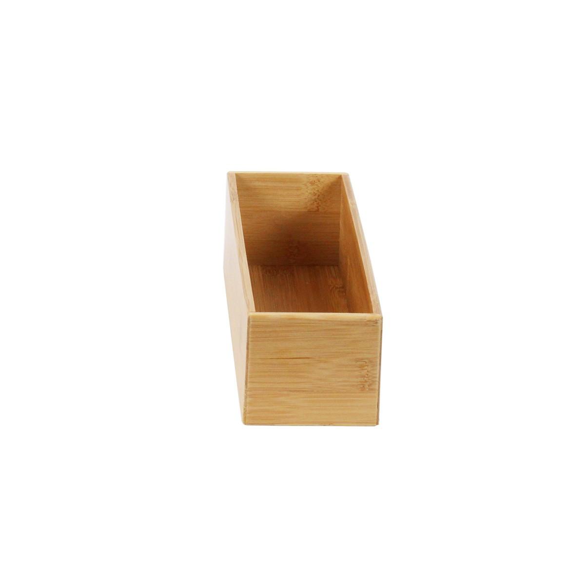 Bac en bambou organisation tiroirs cuisine for Organisateur tiroir cuisine