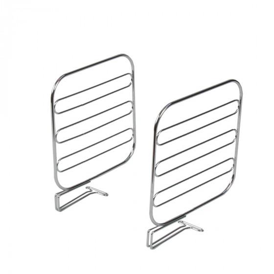 2 serre-livres en métal chromé