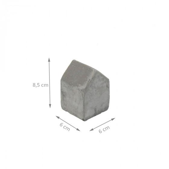 Serre-livre en béton en forme de maison (petit)