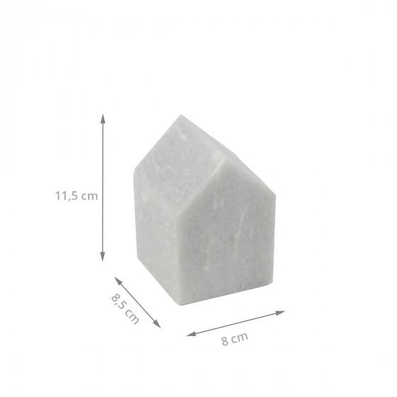 Serre-livre en marbre gris clair