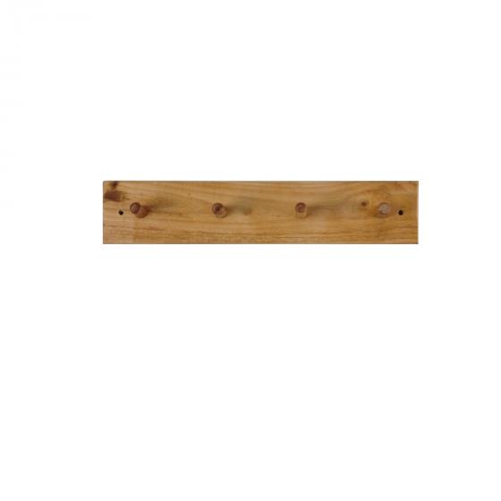 Porte manteau en chêne massif à 4 patères
