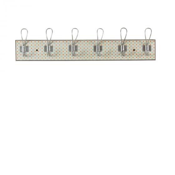 Portemanteau vintage avec 6 crochets métalliques