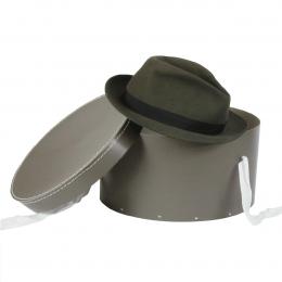 Boîte à chapeaux  gris taupe (M)