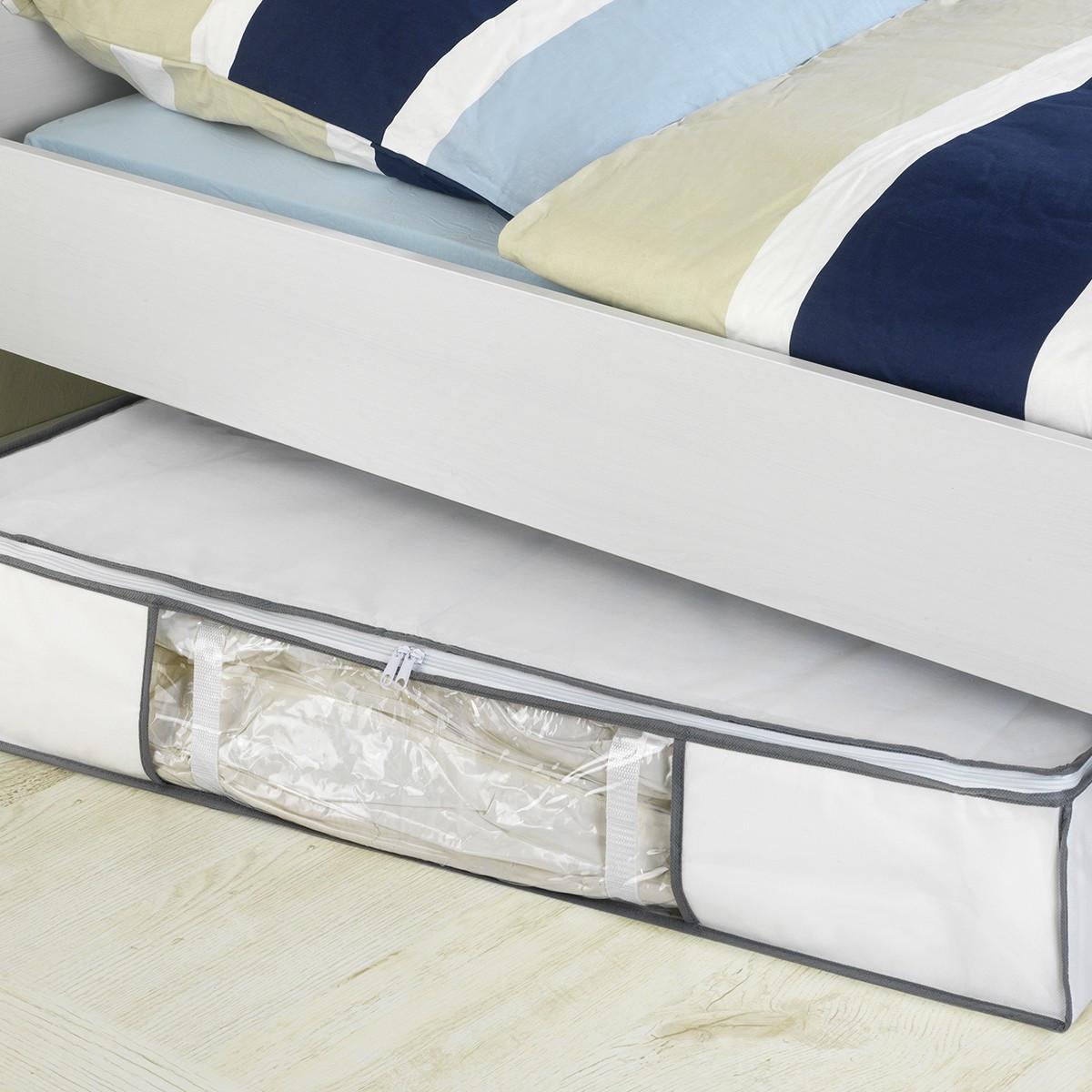 housse sous vide sous le lit rangement. Black Bedroom Furniture Sets. Home Design Ideas