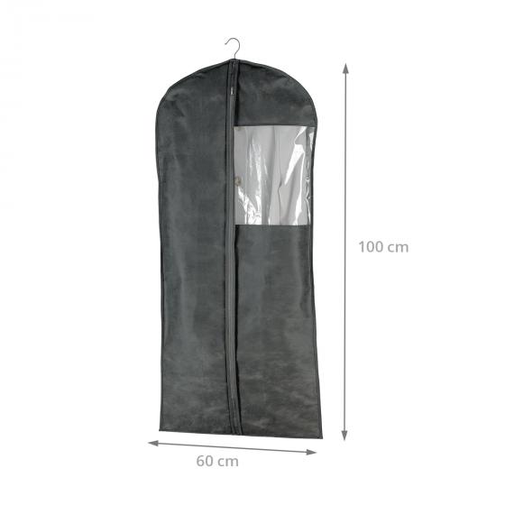 Housse pour vêtements en intissé respirant gris (M)