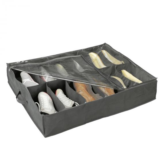 Rangement chaussures bo tes tag res on range tout - Rangement chaussures sous lit ...