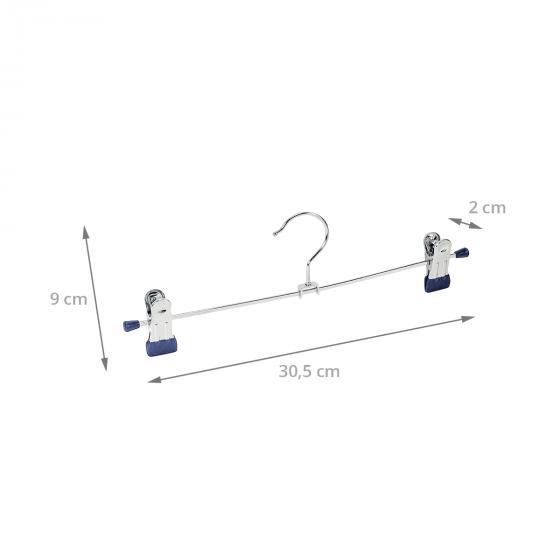 2 cintres métalliques à pinces de 30cm