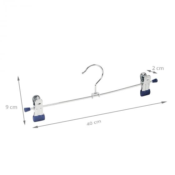 2 cintres métalliques à pinces de 40 cm
