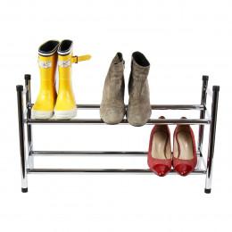 Range bottes de jardin bois gris for Rangement chaussures extensible