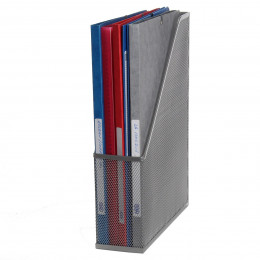 Range-dossiers en maille métallique gris argent
