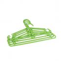5 cintres pour enfant en plastique vert anis