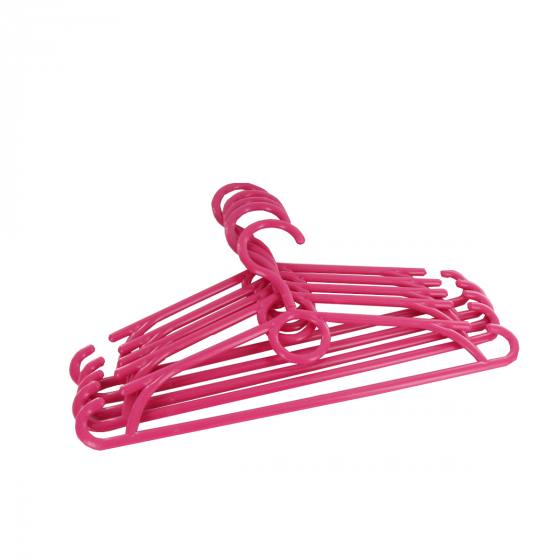 5 cintres pour enfant en plastique rose fuchsia
