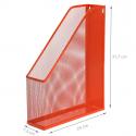 Range-dossiers en maille métallique rouge orangée