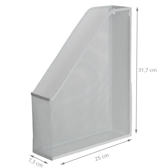 Range-dossiers en maille métallique blanche