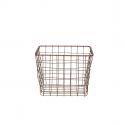 Panier carré en métal couleur bronze (S)