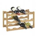Rack à vin empilable en bois de noyer pour 12 bouteilles